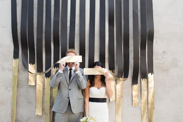 She Wonders Gold Ceremony Backdrop