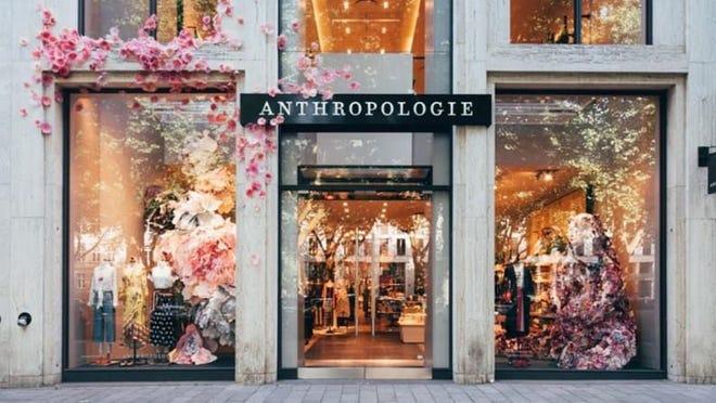 Anthropologie floral window display