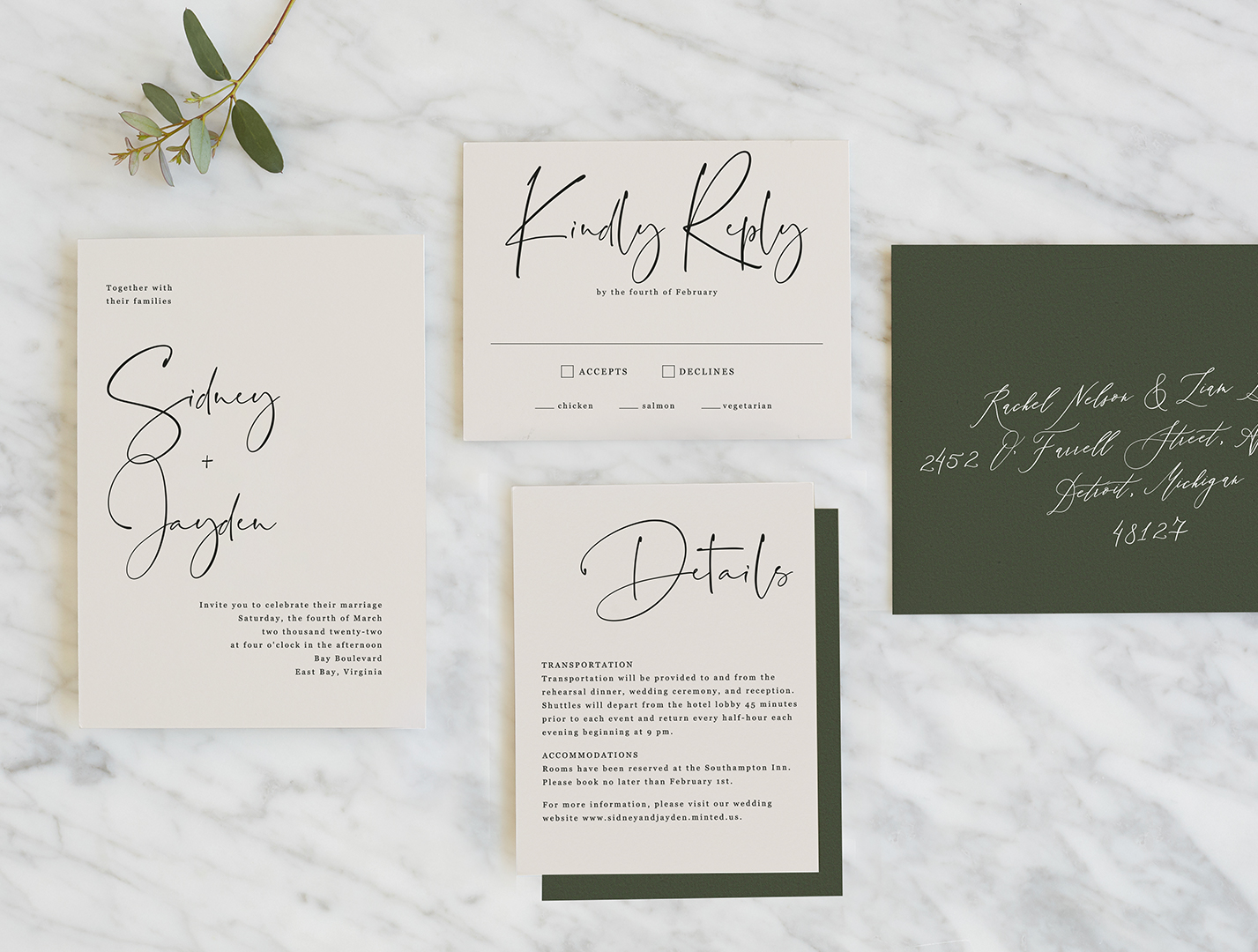 Invitations from Minted