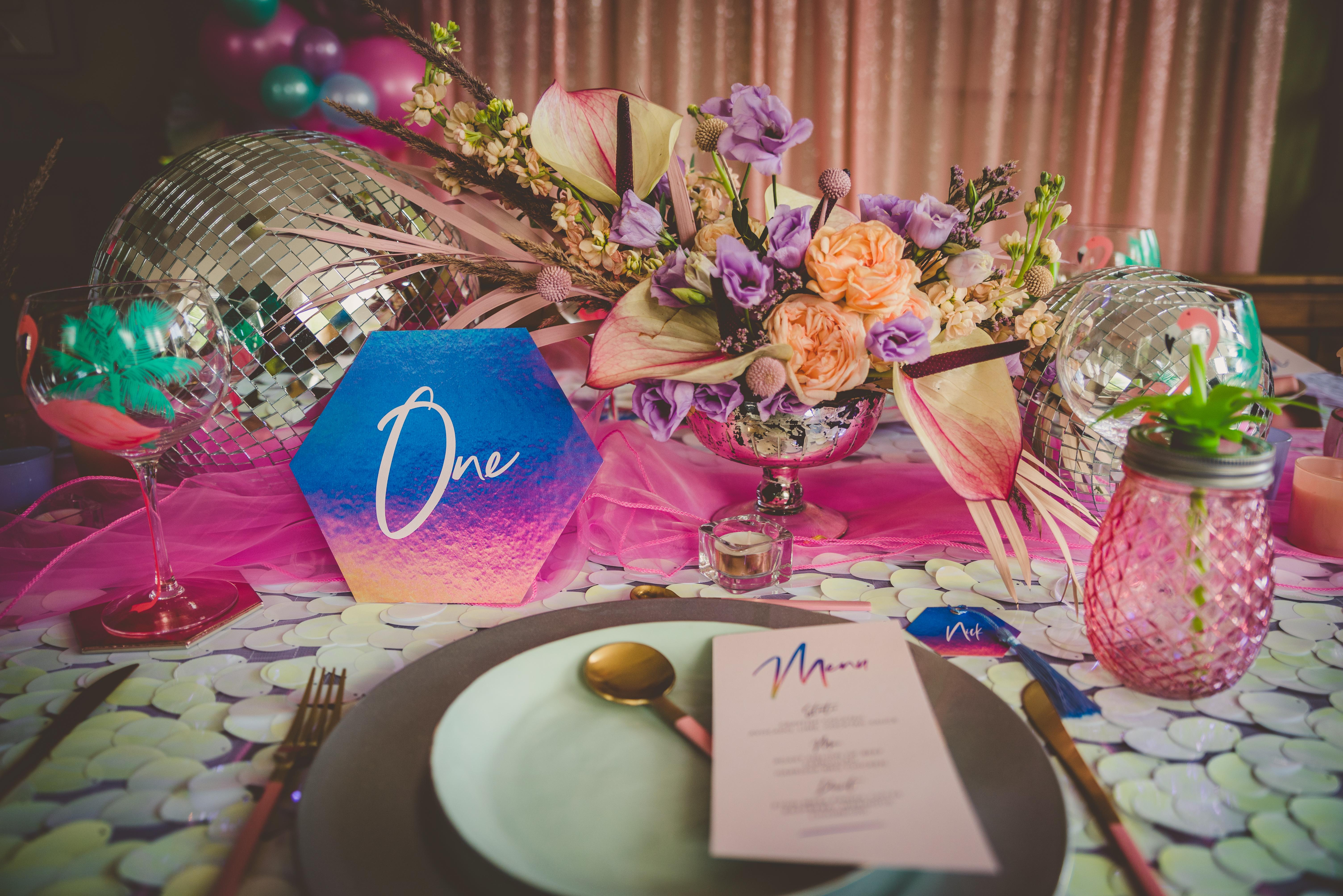 color-rich tablescape