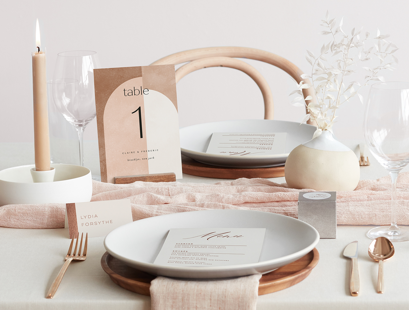 Place Cards and Table Numbers from Minted