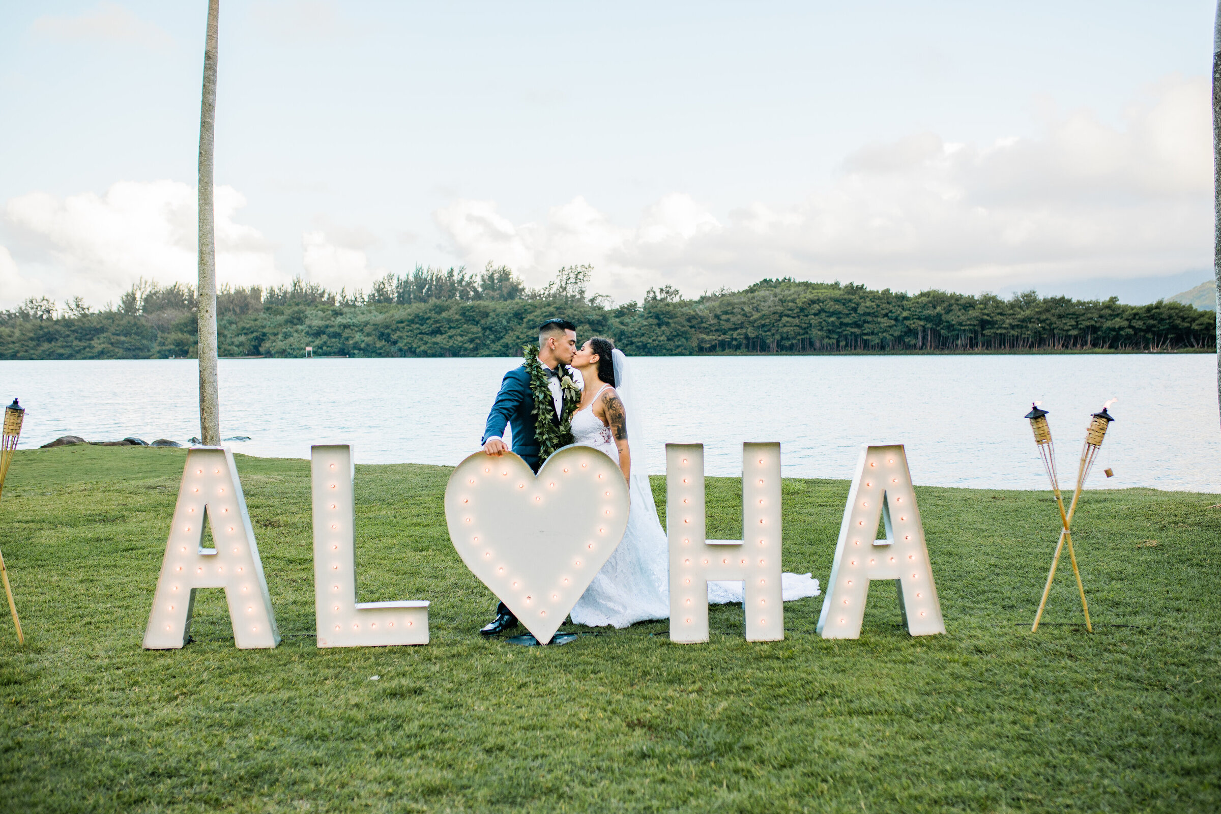 Aloha Sign and Torches