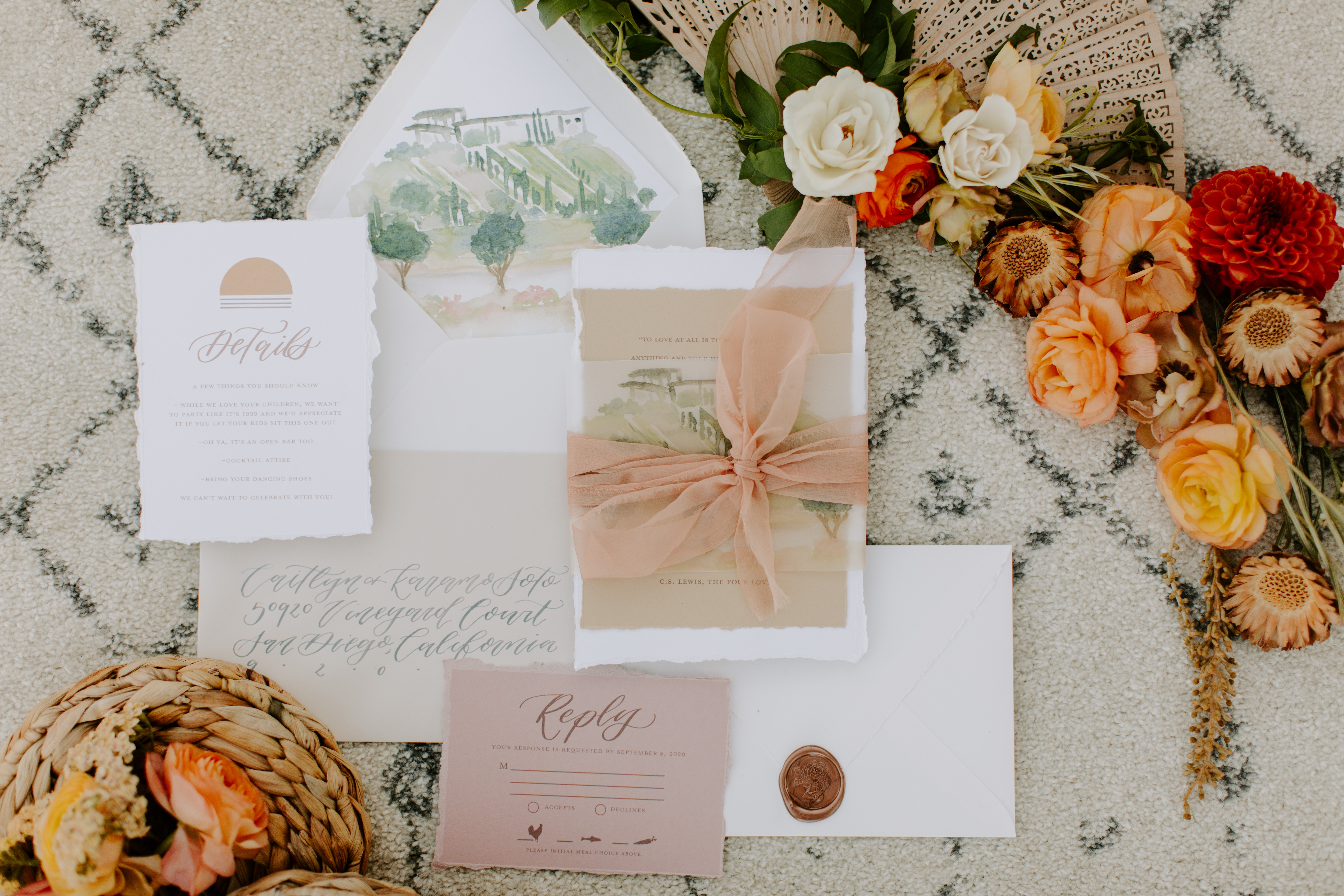 Stationery and roses