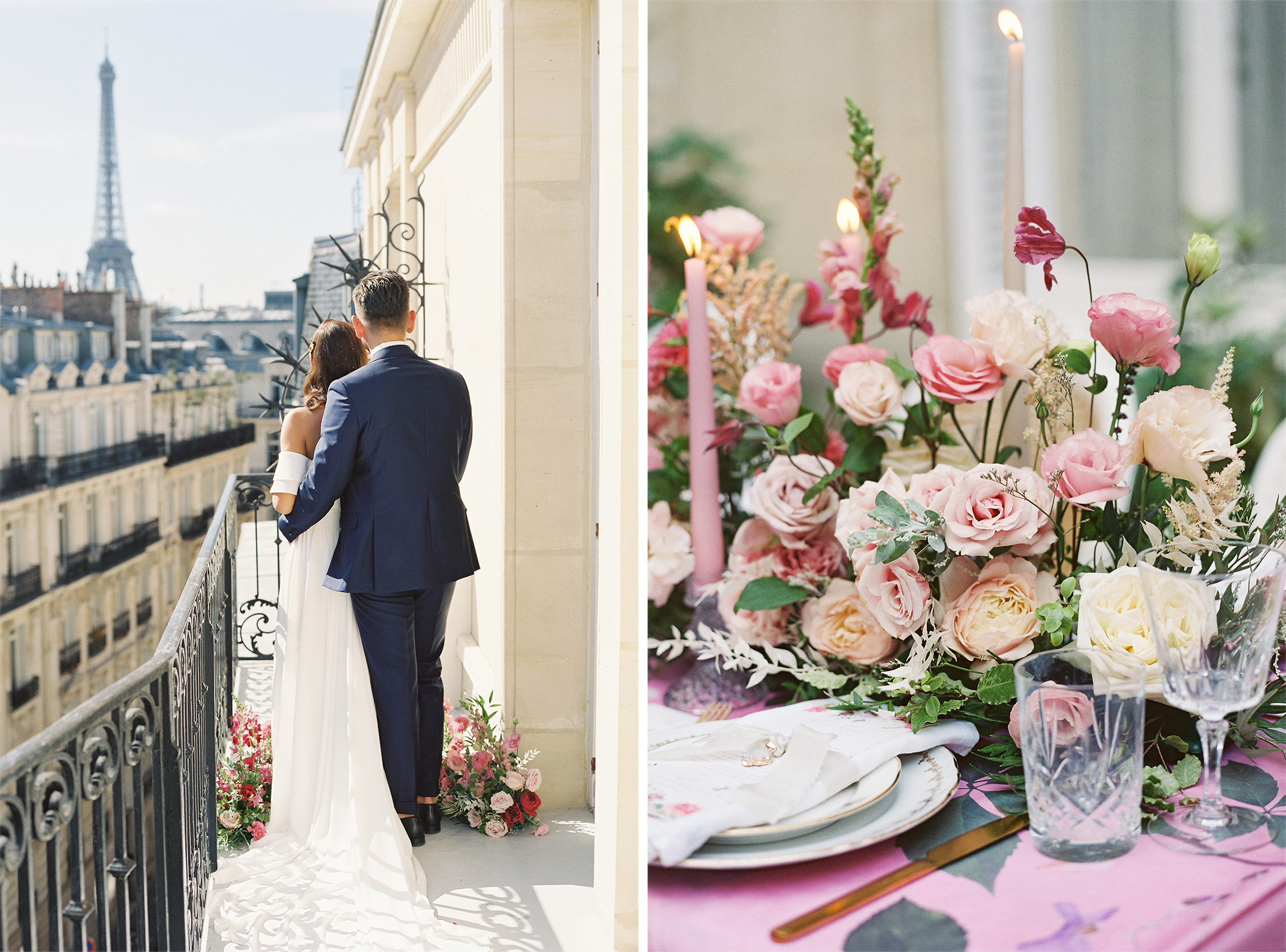 Couple in Paris and Florals