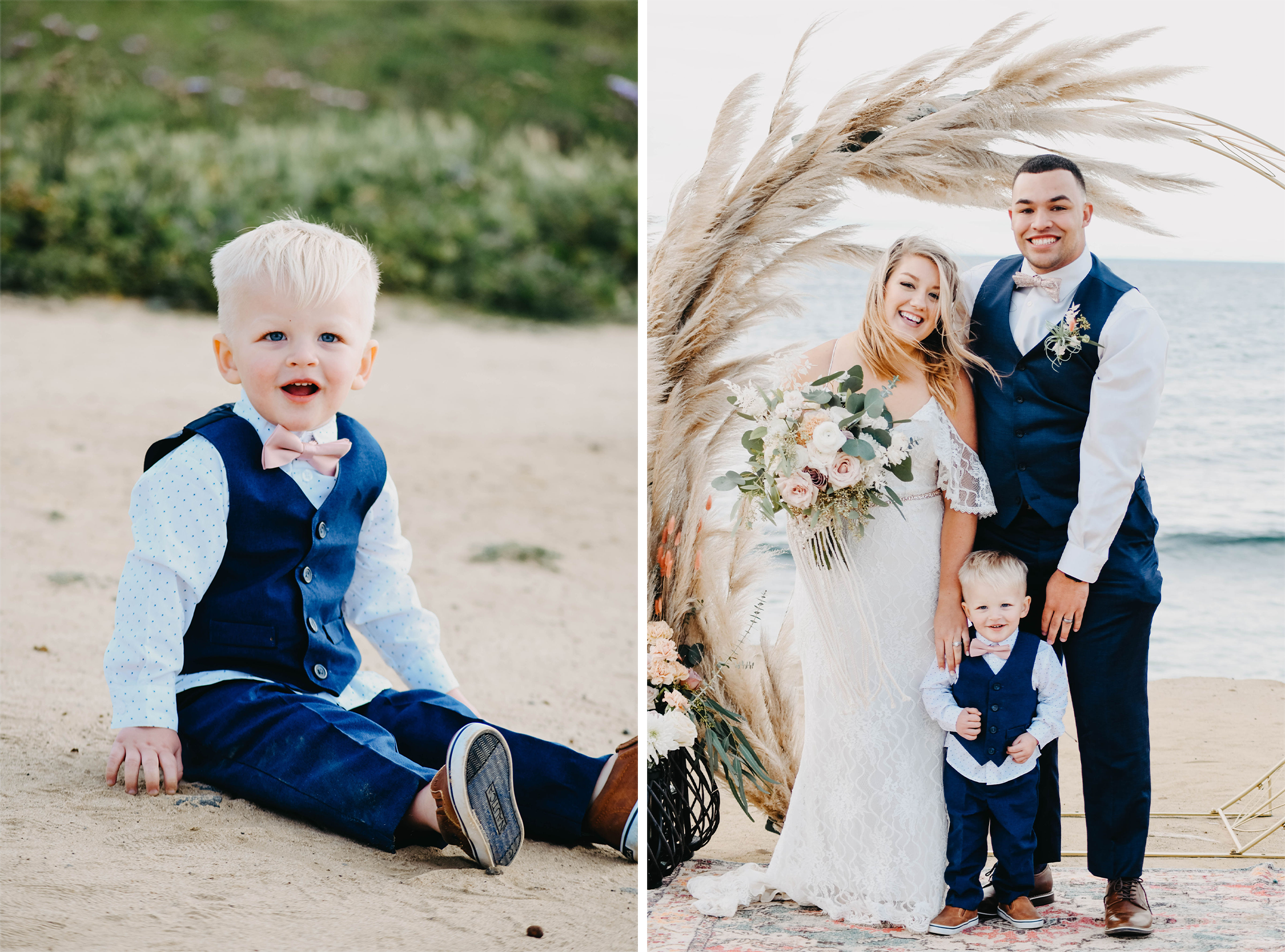 Toddler Son Included in Wedding Day