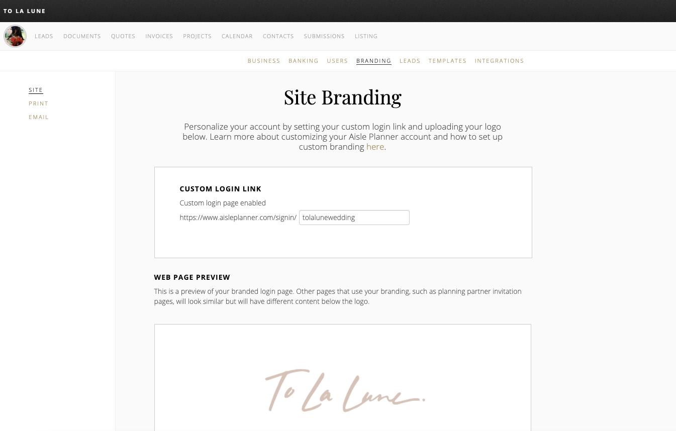 site branding screenshot