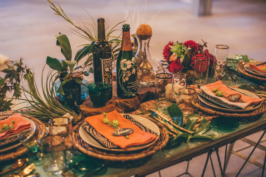 Tablescape with beautiful colors
