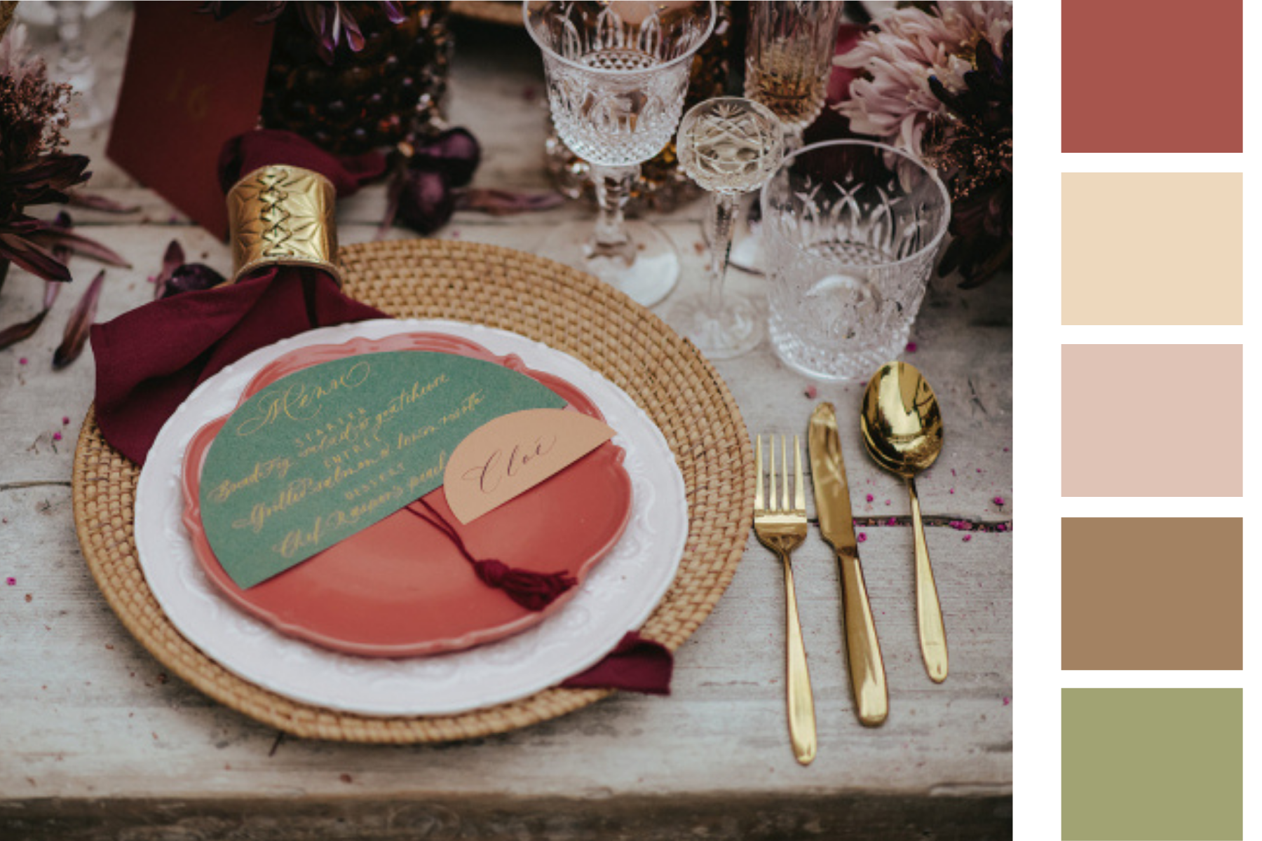 Table setting and colors