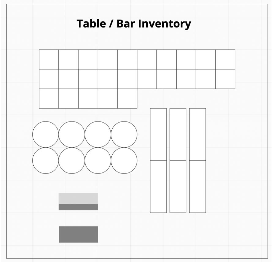 Table/ Bar inventory layout