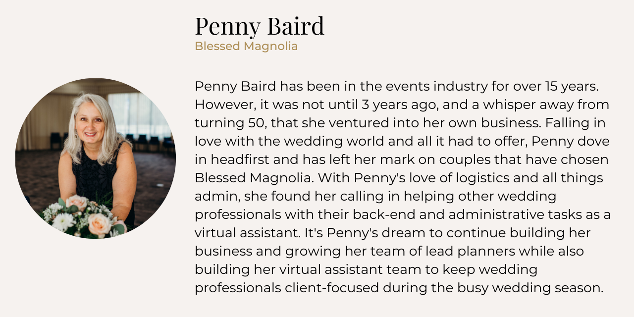 Penny Baird bio and headshot