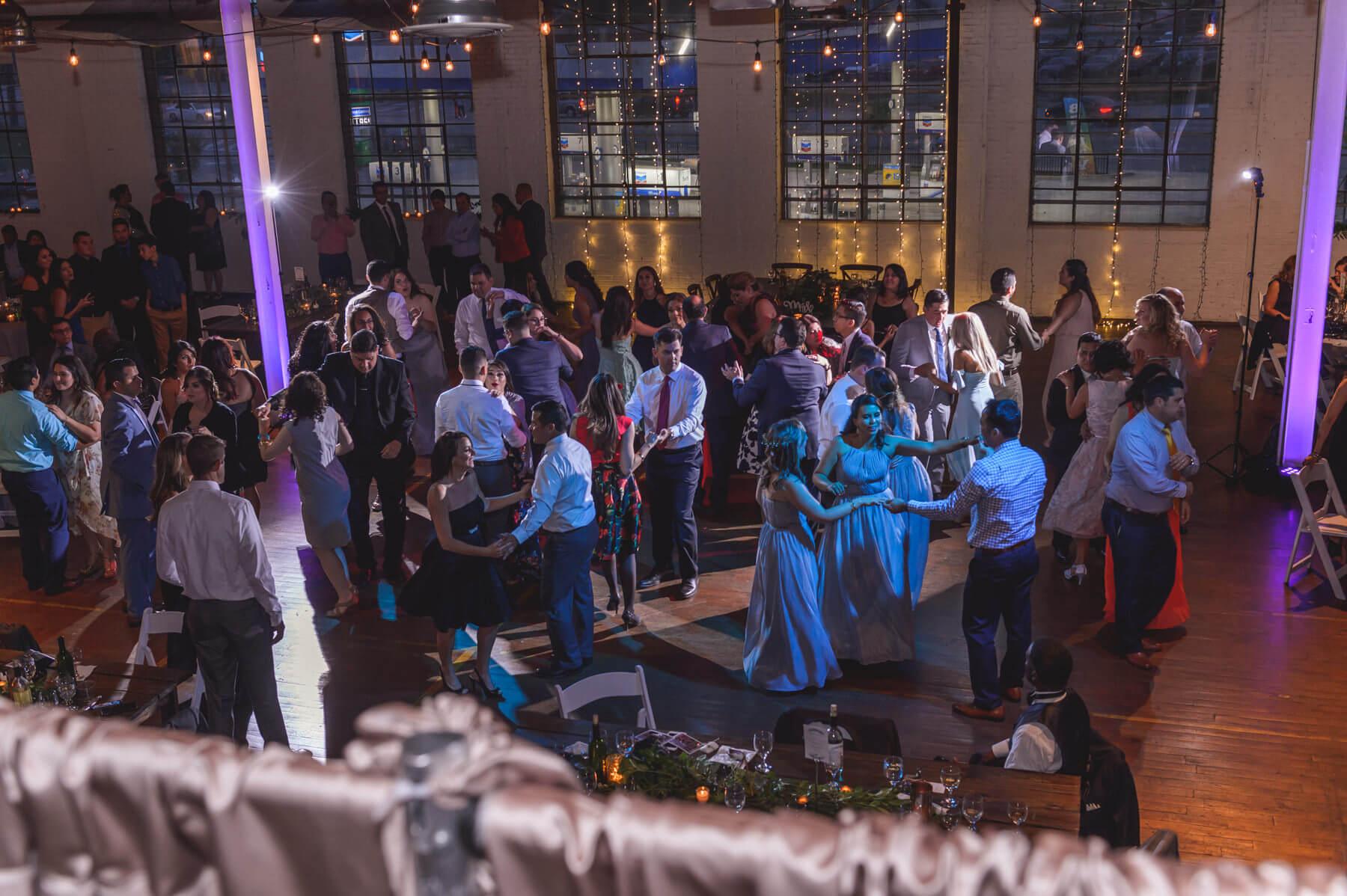 Dance floor with guests dancing
