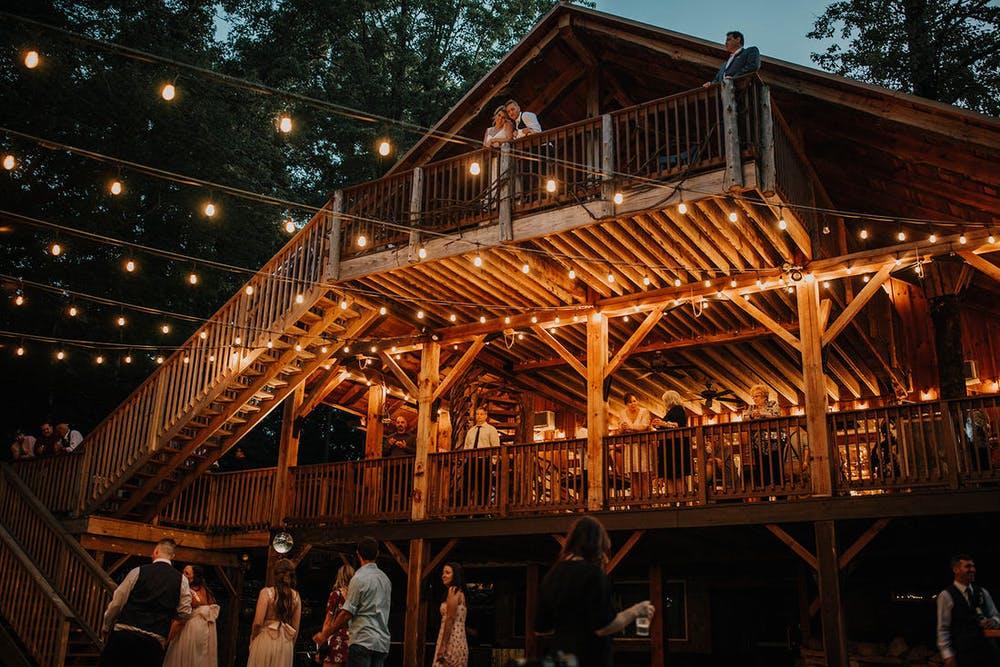 Grand barn with lights
