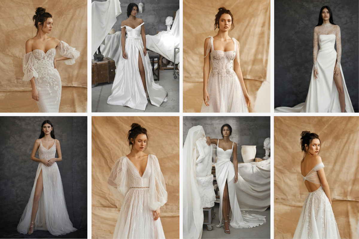 10 images of unique dresses-puffy lace sleeves, off the shoulder princess cut