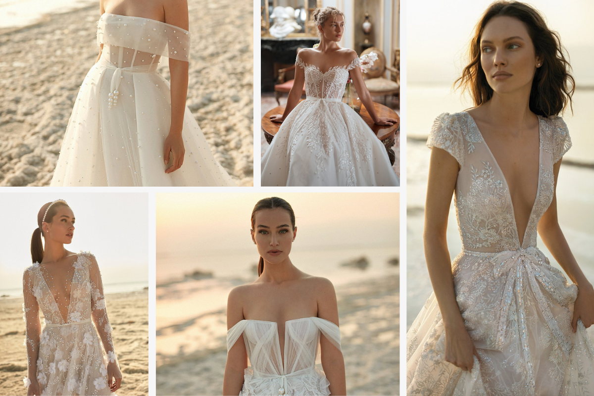 5 dresses, sheer and off the shoulder