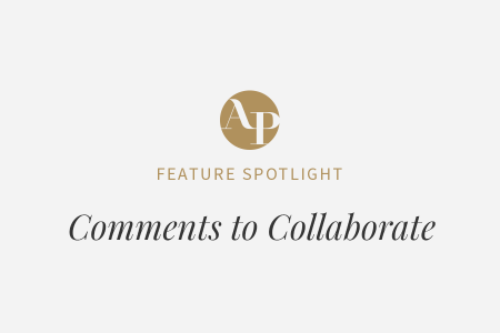 Using Comments to Collaborate