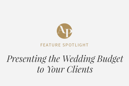 Presenting The Wedding Budget To Your Clients