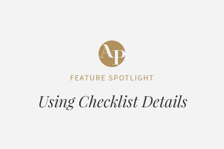 It's All in the (Checklist) Details