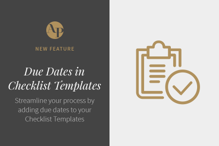 Introducing Checklist Due Dates at the Template Level
