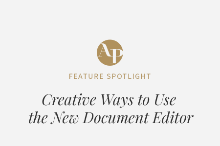 Creative Ways to Use Our New Document Editor