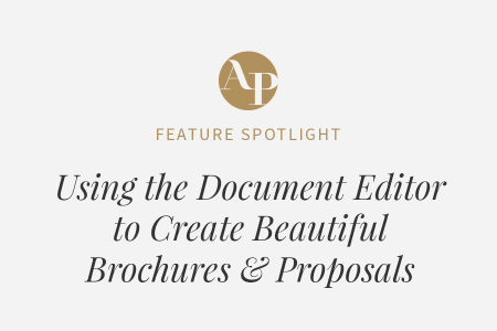 How to Use the Document Editor to Create Beautiful Brochures and Proposals