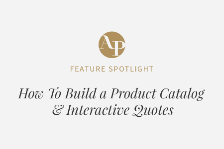 How To Build a Product & Service Catalog to Use in Interactive Quotes