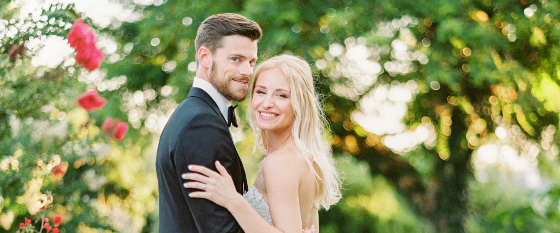Newlyweds in Garden