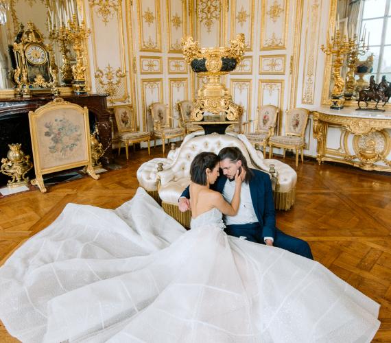Beautiful couple in Paris