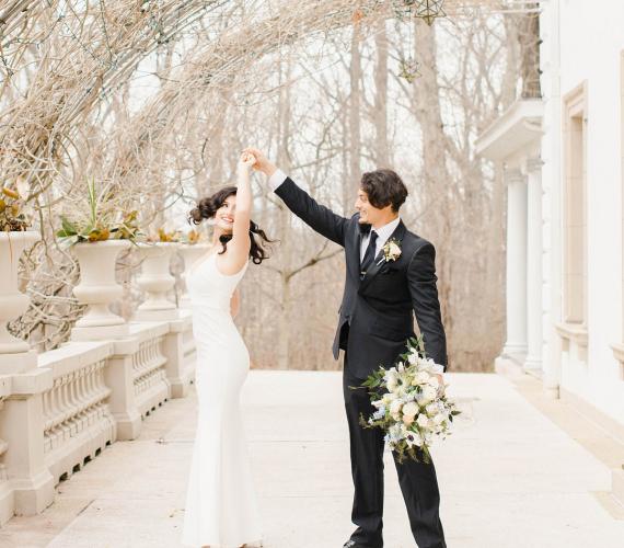 Slate Blue Parisian Wedding Inspiration