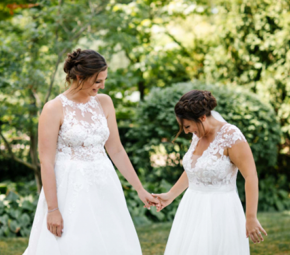 The Ins & Outs of Wedding Dress Shopping for Two
