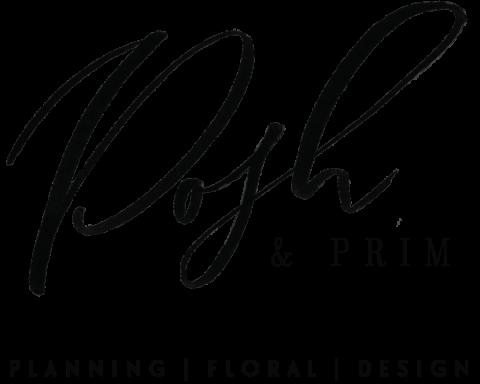Posh & Prim logo with white background