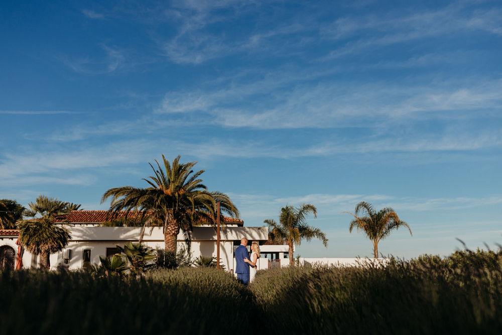 Newlyweds in California Field