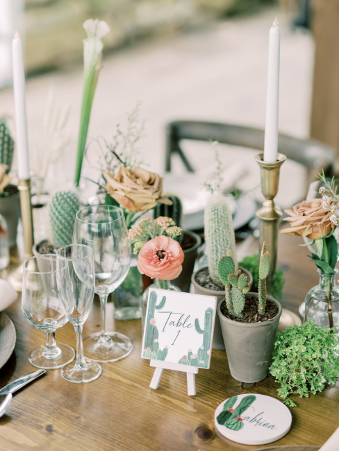 Desert Table Number and Place Card