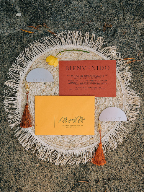 Red and Yellow Invitations