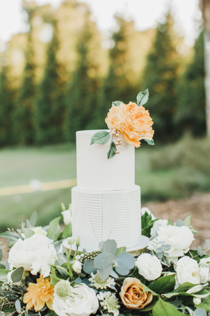 Cake with Orange Flowers