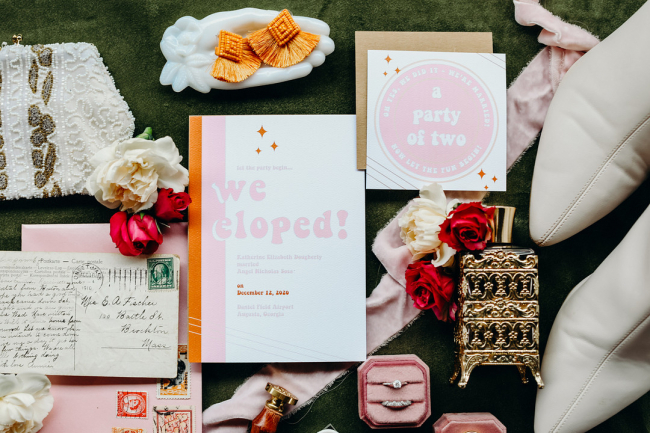 elopement stationery suite