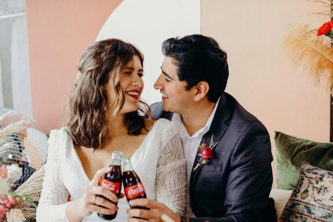 couple with Coca Cola