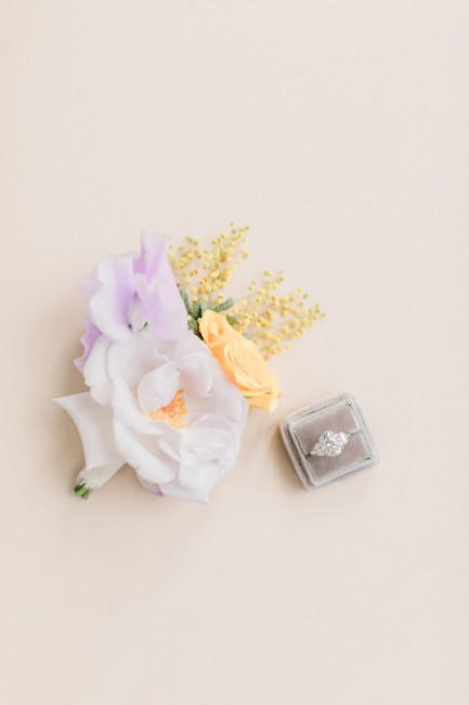 Purple Florals and Rings