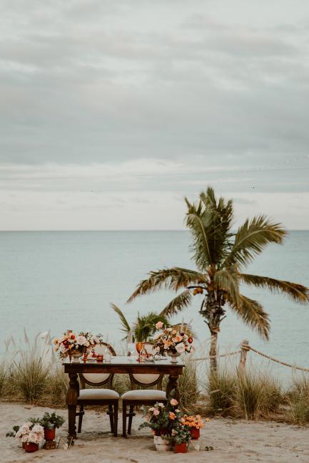 Sweetheart Table on Beach