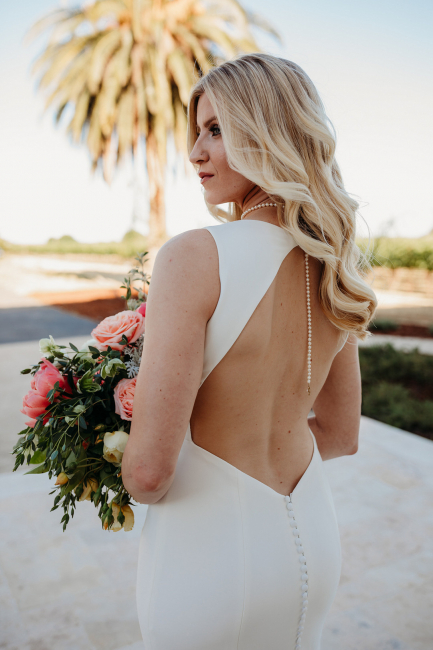 Open-Back Wedding Dress