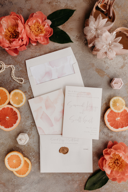 Citrus-Hued Invitations