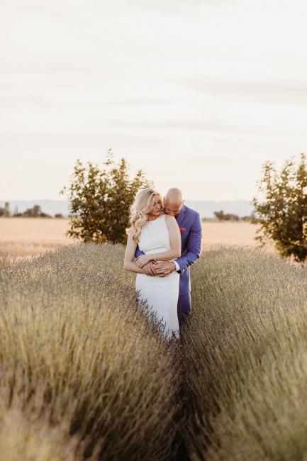 Newlyweds in Lavender Field