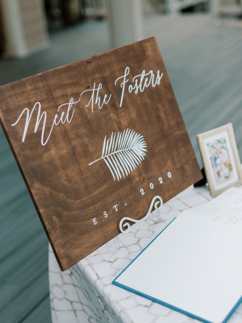 Meet the Fosters Wedding Sign