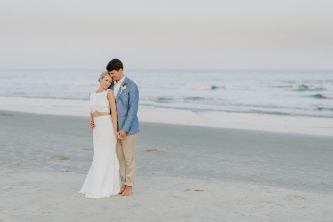 Newlyweds on Beach