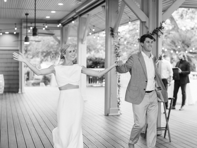 Newlyweds Entering Reception