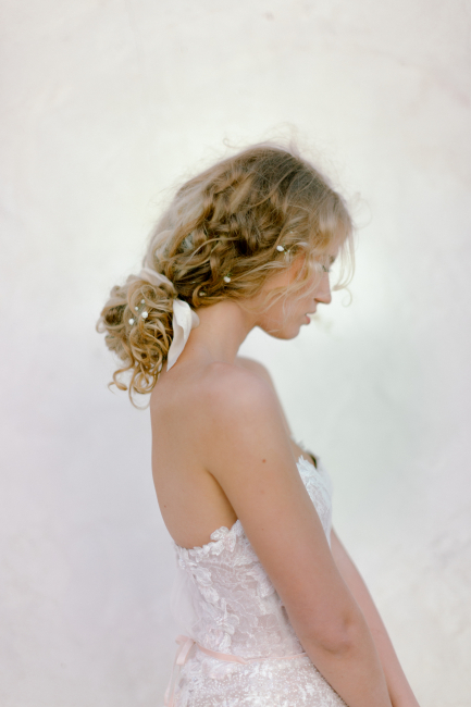 bride with hair in bun