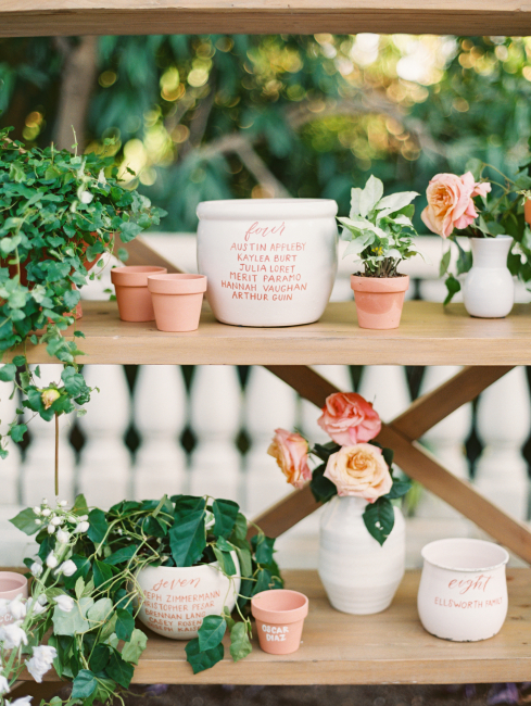 Potted Plant Seating Chart