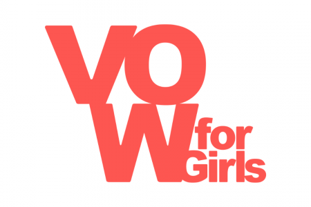 VOW for Girls logo with white background