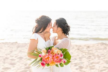 Tropical & Romantic LGBTQ+ Wedding Inspiration