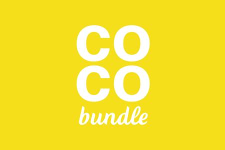 White COCObundle logo on yellow background