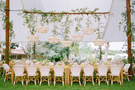 Elegant Outdoor Wedding With a Whimsical Water Motif